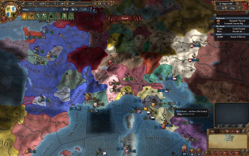 Mitt väldigt snabbt växande Milan. Ett långsiktigt mål är att kunna bilda Italien.
