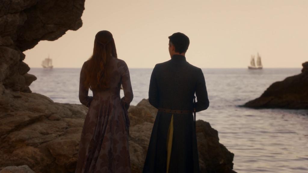 """Sansa Stark i samtal med """"Little Finger"""". En scen som Andreas Feix arbetat med och förbättrat."""