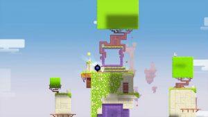 Fez (2012) är ett 2D-plattformsspel med inslag av nån slags 3D där man kan rotera spelvärlden.