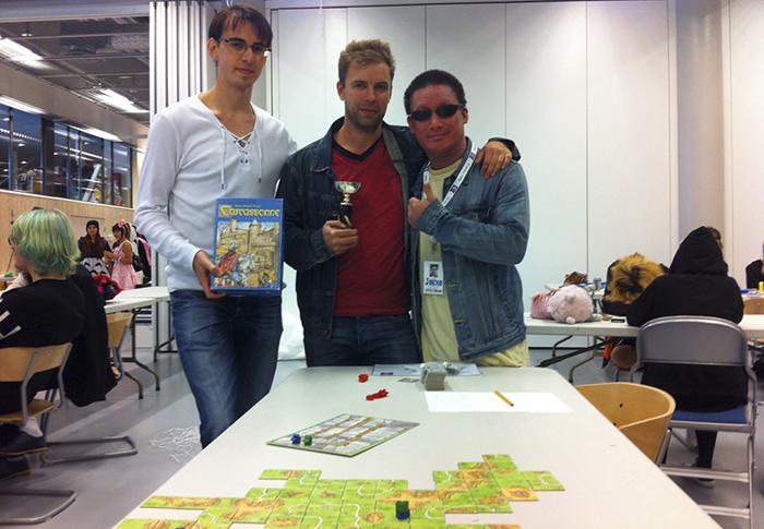 """Finalisterna från vänster: Andreas Hammar, Magnus """"Släpet"""" Anderberg och Jocke Tang. Foto: Jonas Bengtsson"""
