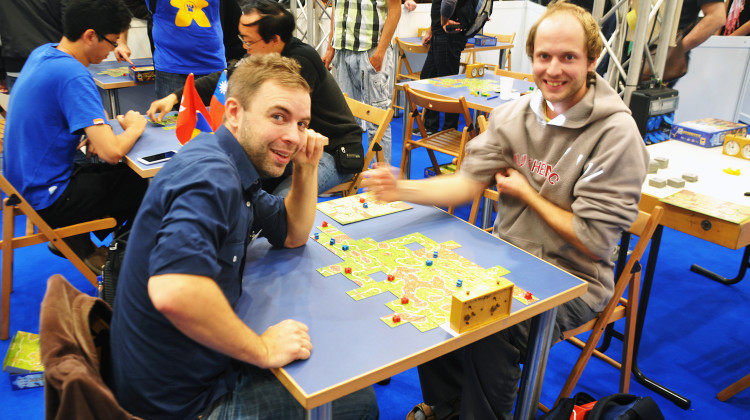 The swedish contestant Magnus Anderberg versus the czech champion of the world from 2012 - Martin Mojzis - in the first game of the tournament.