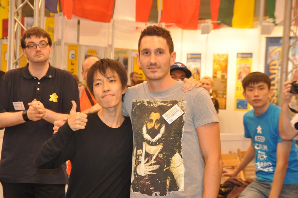 2014 winner Takafumi Mochiduki from Japan together with the finalist and last years winner Panteli Litsardopolus from Greece.