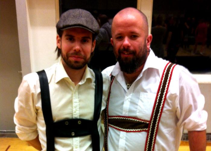 """David Öiens och Jonas Thorséns """"Glockenspielers"""" slutade tvåa av 128 lag i lördagens beerpongtävling. Foto: Henric Persson"""