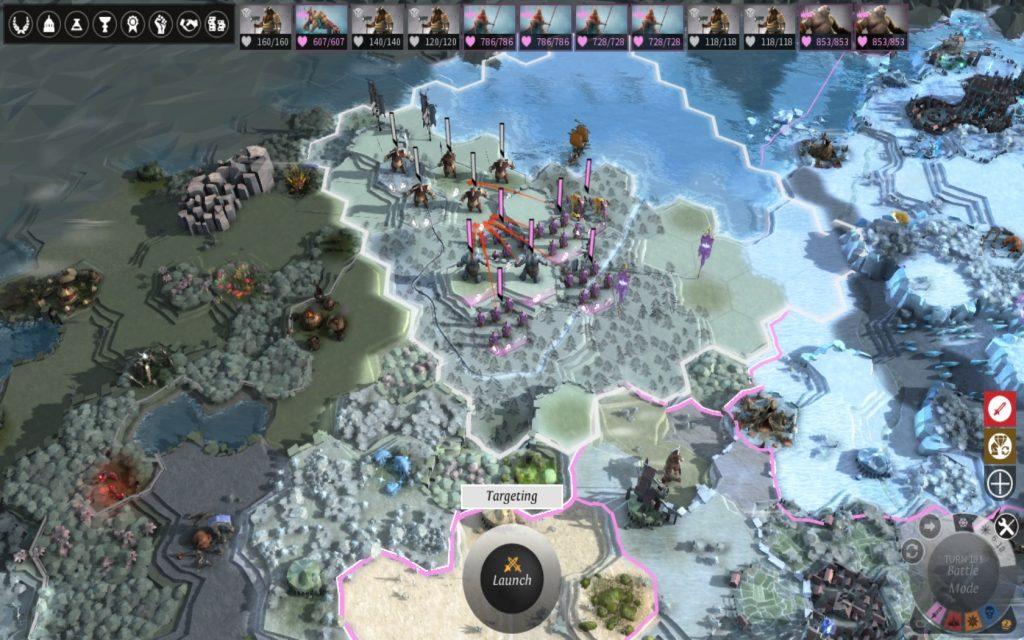 Striderna utspelas på världskartan där du själv får bestämma hur din armé ska ställa upp och formera sig. Tänk på att utnyttja väder och terräng till din fördel.