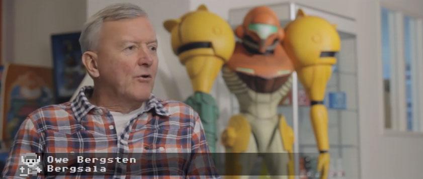 Owe Bergsten från Bergsala (som tog NES till Sverige) är såklart med. Bildruta från dokumentären Fyrkantiga ögon.