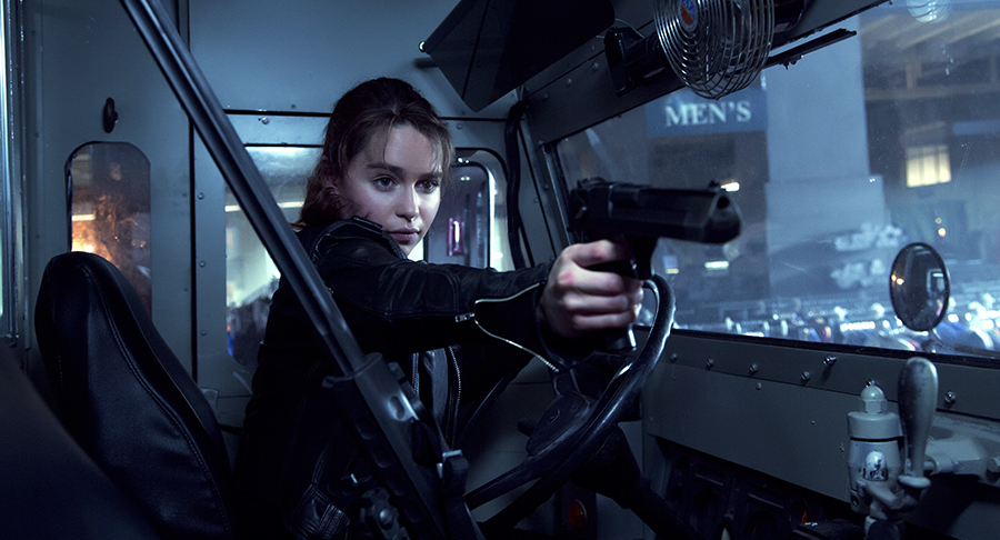 Emilie Clarke som Sarah Connor i Terminator: Genisys. Foto: Pressbild/Paramount Pictures