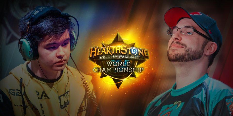 """Sebastian """"Ostkaka"""" Engwall vs Danny """"Hotform"""" Mullins. Bild från @PlayHearthstone"""