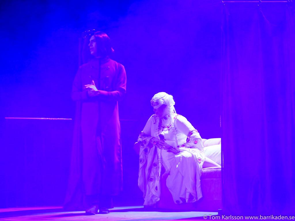 Från framträdandet med Count D (Kim Synnerborn) och Medusa (Miranda Fondin) under cosplaykvalet på Comiccon. Foto: Tom Karlsson