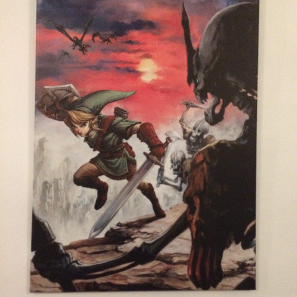 Zelda-konst på väggarna ger extra feeling. Foto: Axel Johnson