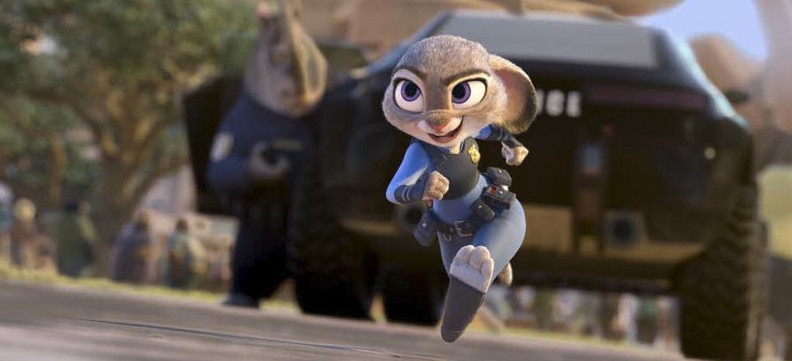 Judy Hopp på språng i filmen Zootropolis. Foto: Pressbild