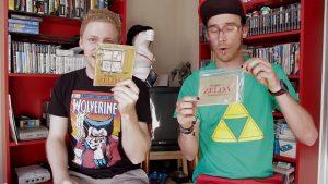 Från REvansch! S02E12 - The Legend of Zelda (NES). Björn har så klart på sig en Zelda-tischa.