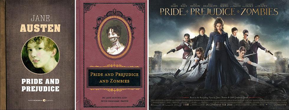 """Jane Austens roman släpptes 1813. 2009 kom Seth Grahame-Smith omarbetning med tillägget zombier. I dag har biofilmen """"Pride and Prejudice and Zombies"""" premiär, som grundar sig på Smiths bok."""