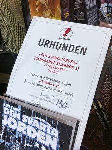 Lars Krantz nominering till Urhunden 2016. Foto: Jonas Bengtsson