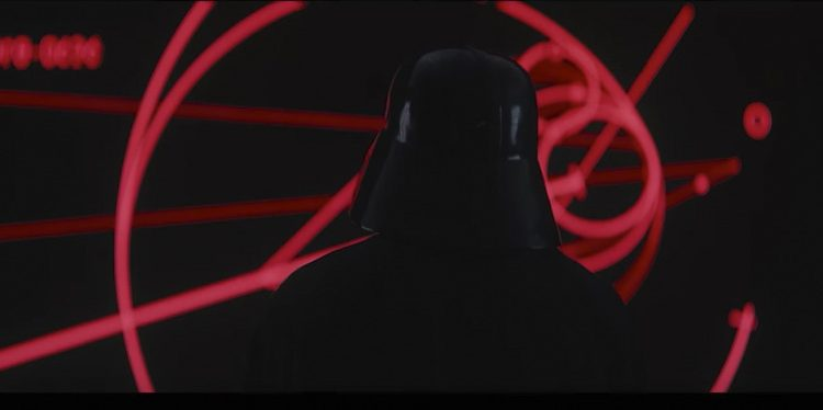 En minut och 56 sekunder in i nya trailern för Rogue One: A Star Wars Story dyker han upp - Darth Vader. Foto: Youtube