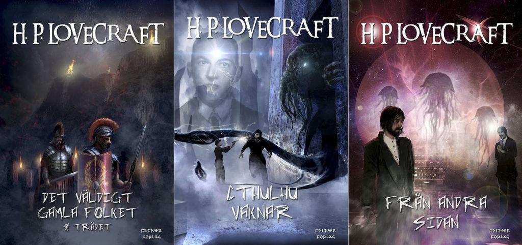 Tre av novellerna, med omslag gjorda av Andreas R.....