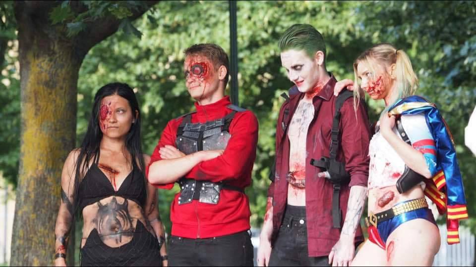 Suicide Squad zombie style under Stockholm Zombie Walk 2016.