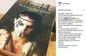 Instagramrecension av bok 2, Bäraren.
