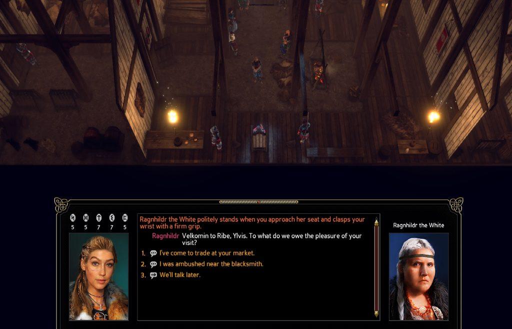 Det finns gott om text i spelet och dialogvalen är många. Än så länge vet jag inte riktigt hur mina val påverkar mig dock.