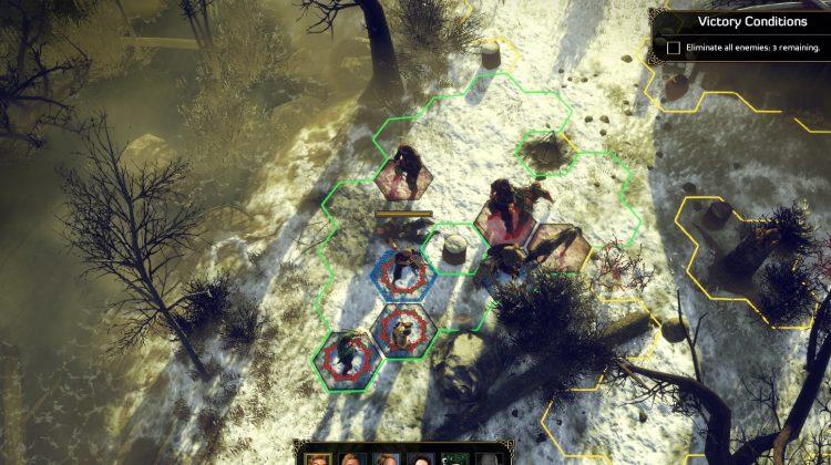 Ylvis och hennes hird tar sig an ett par storväxta personer som lever rövare.