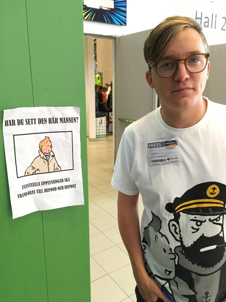 Barrikadens reporter Nils Ek på senaste Comiccon.