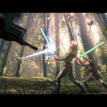 Ruta från kommande serien: Arianna och Raven attackeras i djungeln. Bild hämtad från Kickstartern.