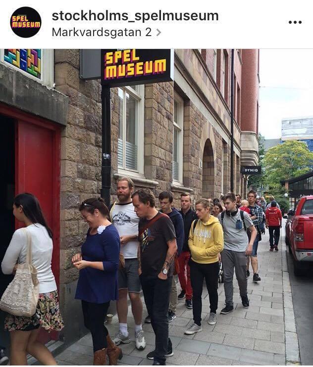 Premiärdagen för ett år sedan. Bild från Instagram: @stockholms_spelmuseum