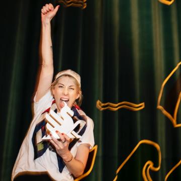 Julia Lindström som vinnare av Startsladden